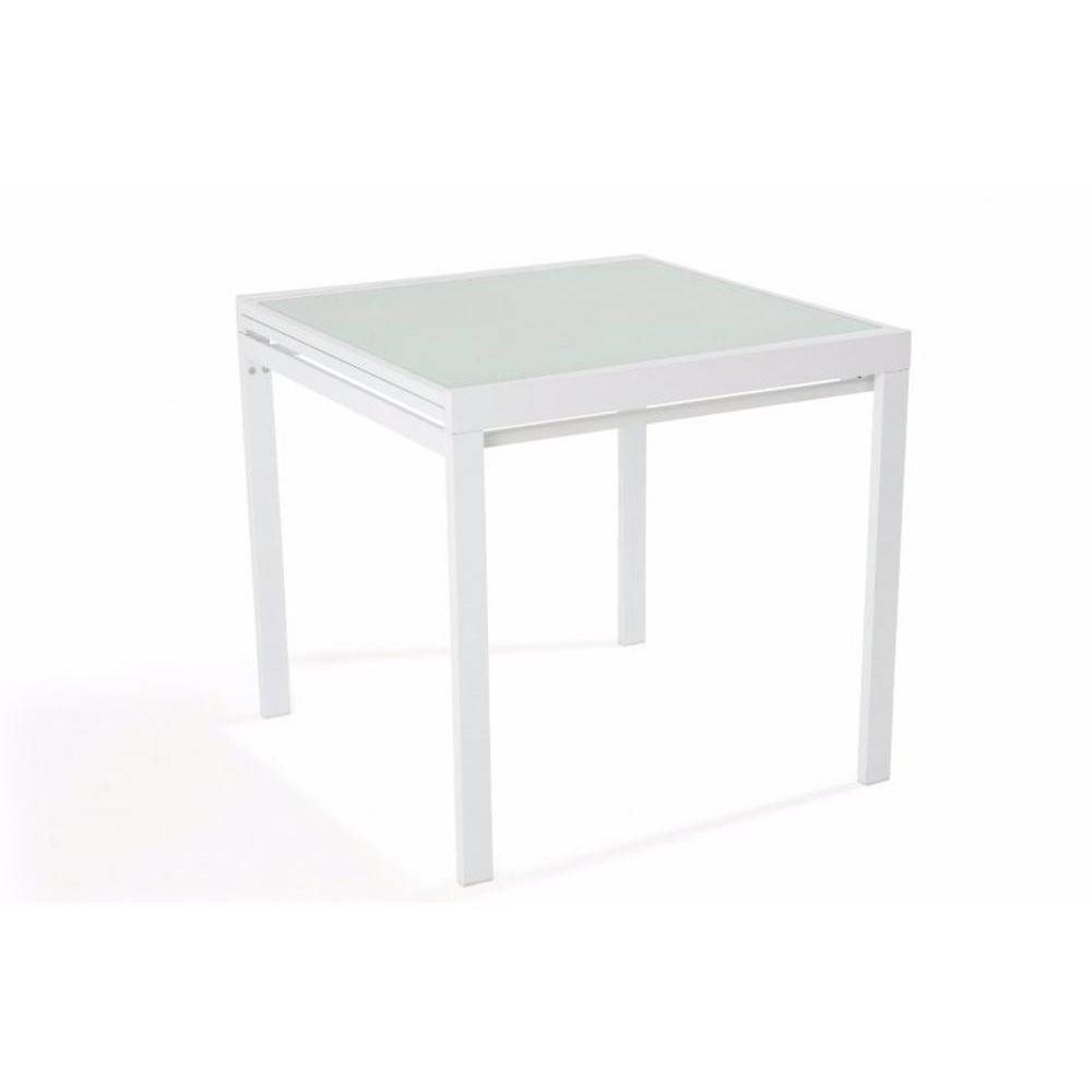 Table extensible blanc maison design for Table manger extensible