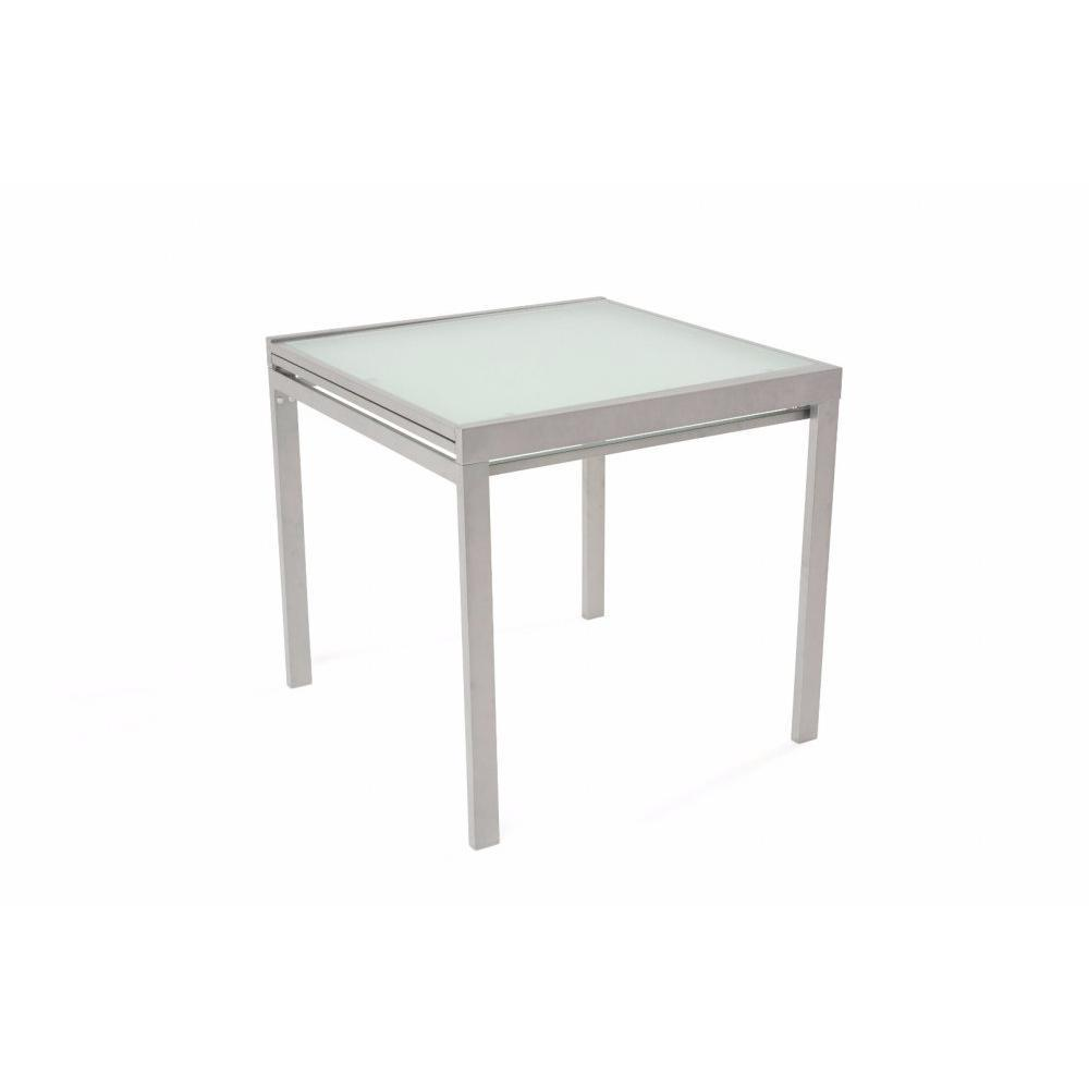 Tables design au meilleur prix table repas carr for Table extensible gris clair