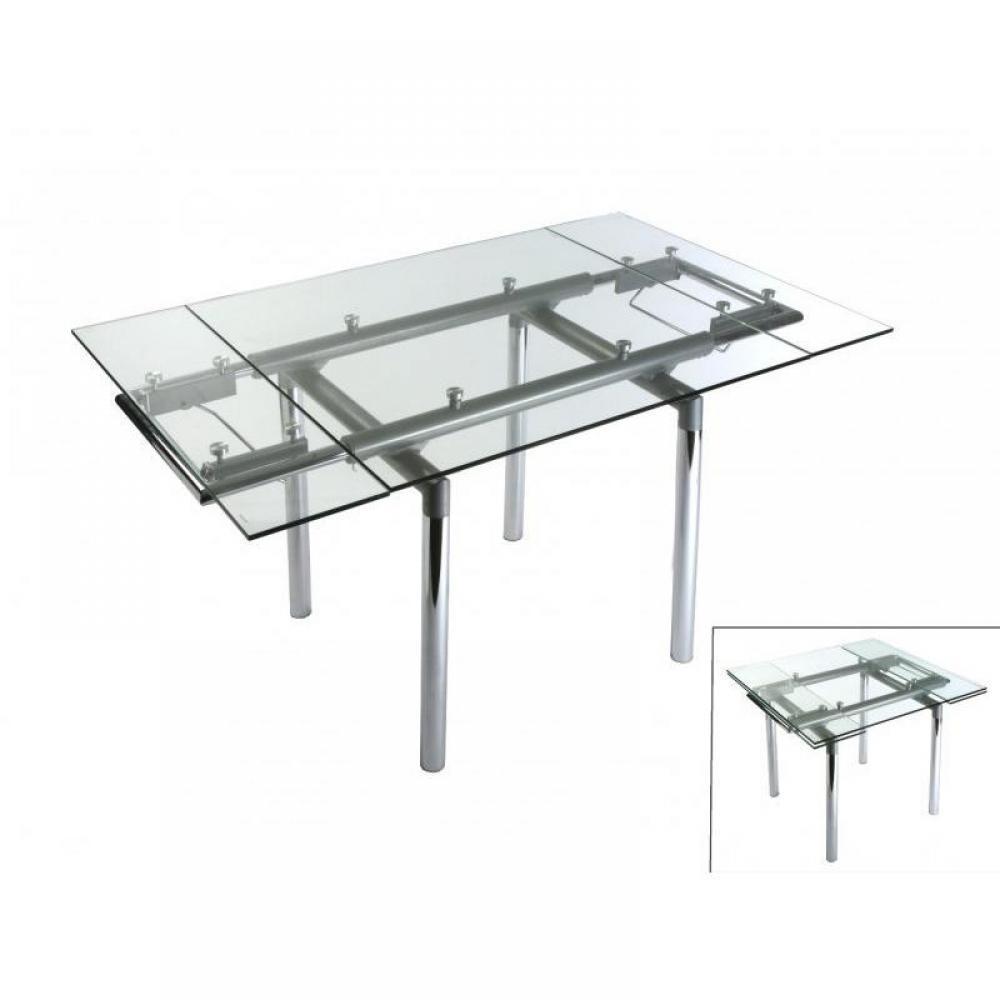 Table de repas design au meilleur prix sophie table - Table verre extensible ...