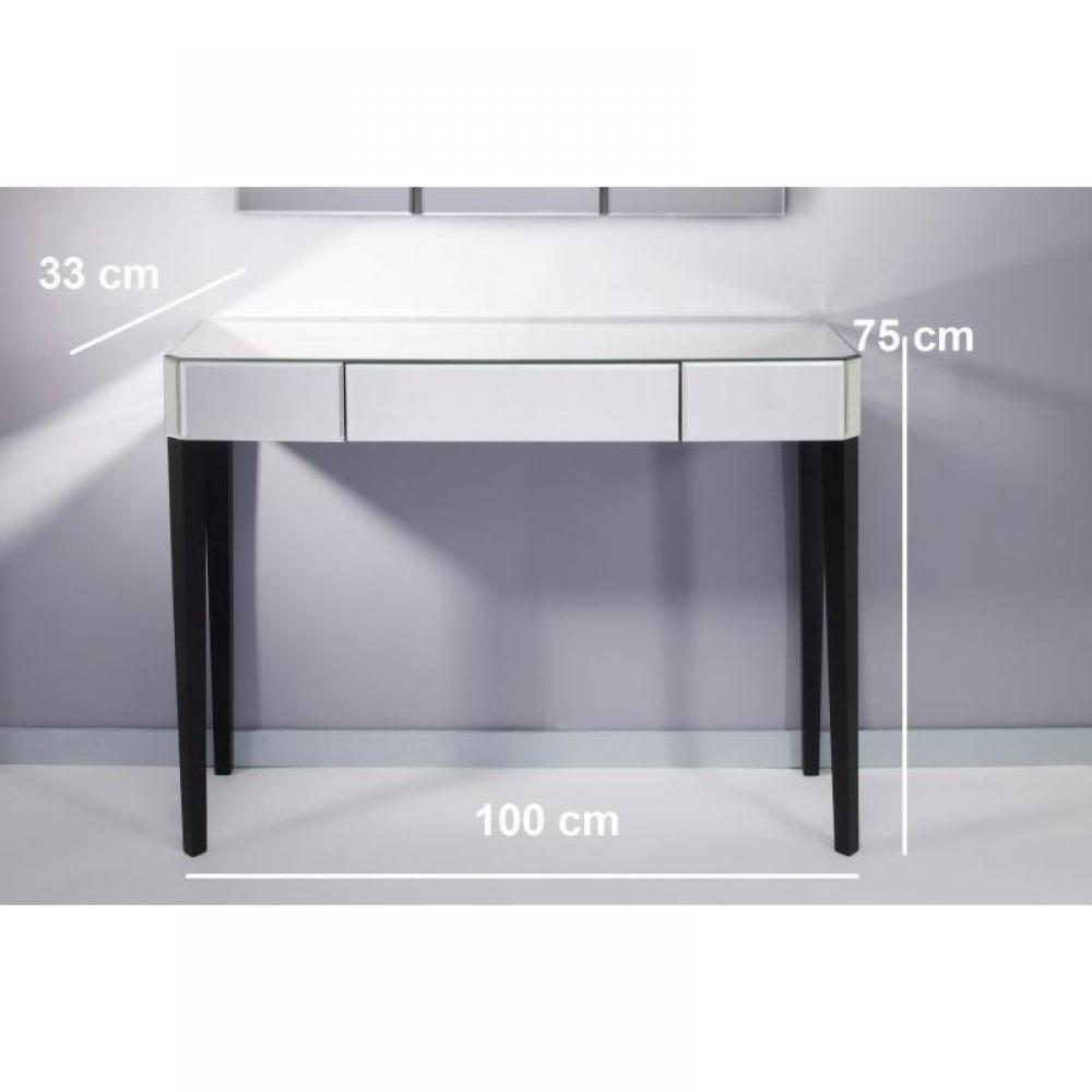 console design ultra tendance au meilleur prix sowhat console miroir en verre gm inside75. Black Bedroom Furniture Sets. Home Design Ideas