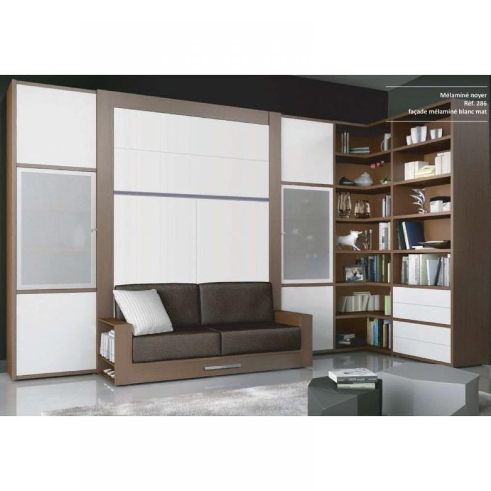 armoire lit escamotable avec canap int gr au meilleur prix armoire lit escamotable avec. Black Bedroom Furniture Sets. Home Design Ideas