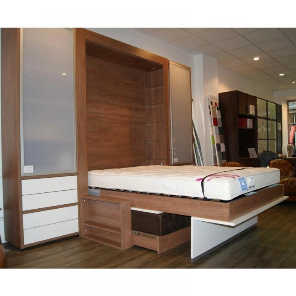 Armoire lit escamotable avec canap int gr au meilleur for Armoire lit avec canape