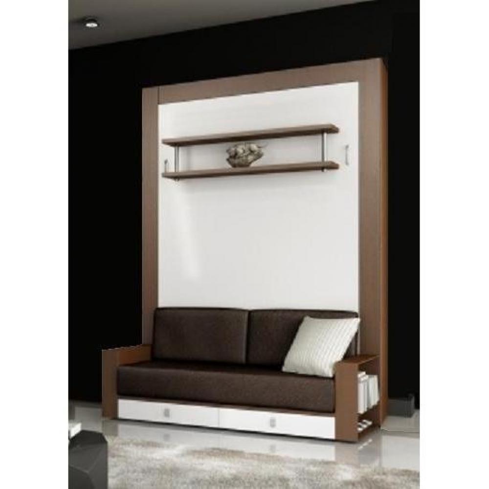 armoire lit escamotable verticale au meilleur prix armoire lit avec canap squadra couchage. Black Bedroom Furniture Sets. Home Design Ideas