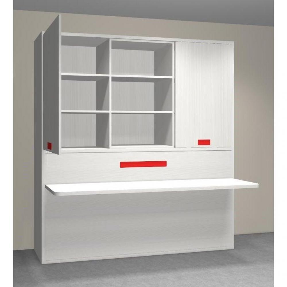Armoire lit simple escamotable 1 personne au meilleur prix armoire lit trans - Lit avec armoire integree ...