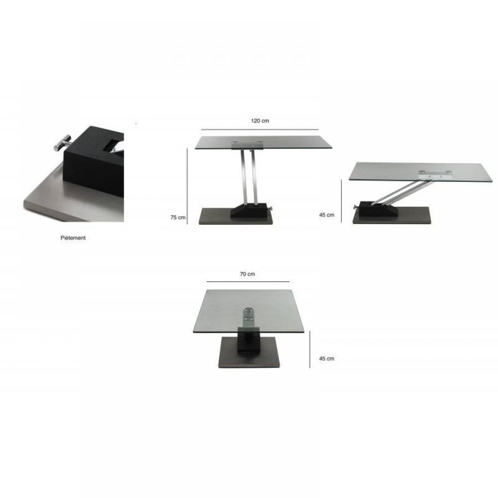 Table basse carr e ronde ou rectangulaire au meilleur - Table basse pied central ...