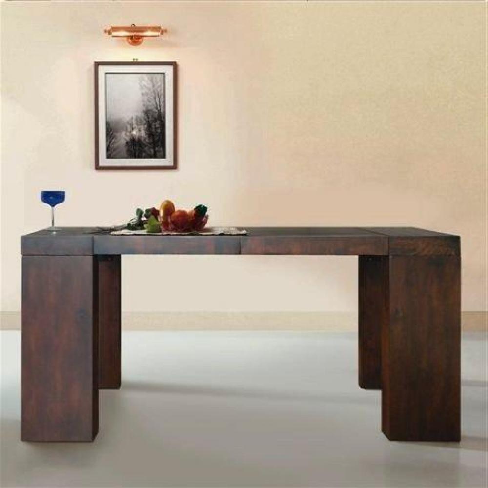 Bureaux, tables et chaises, Console extensible SUBLIMO wengé, 10 ...