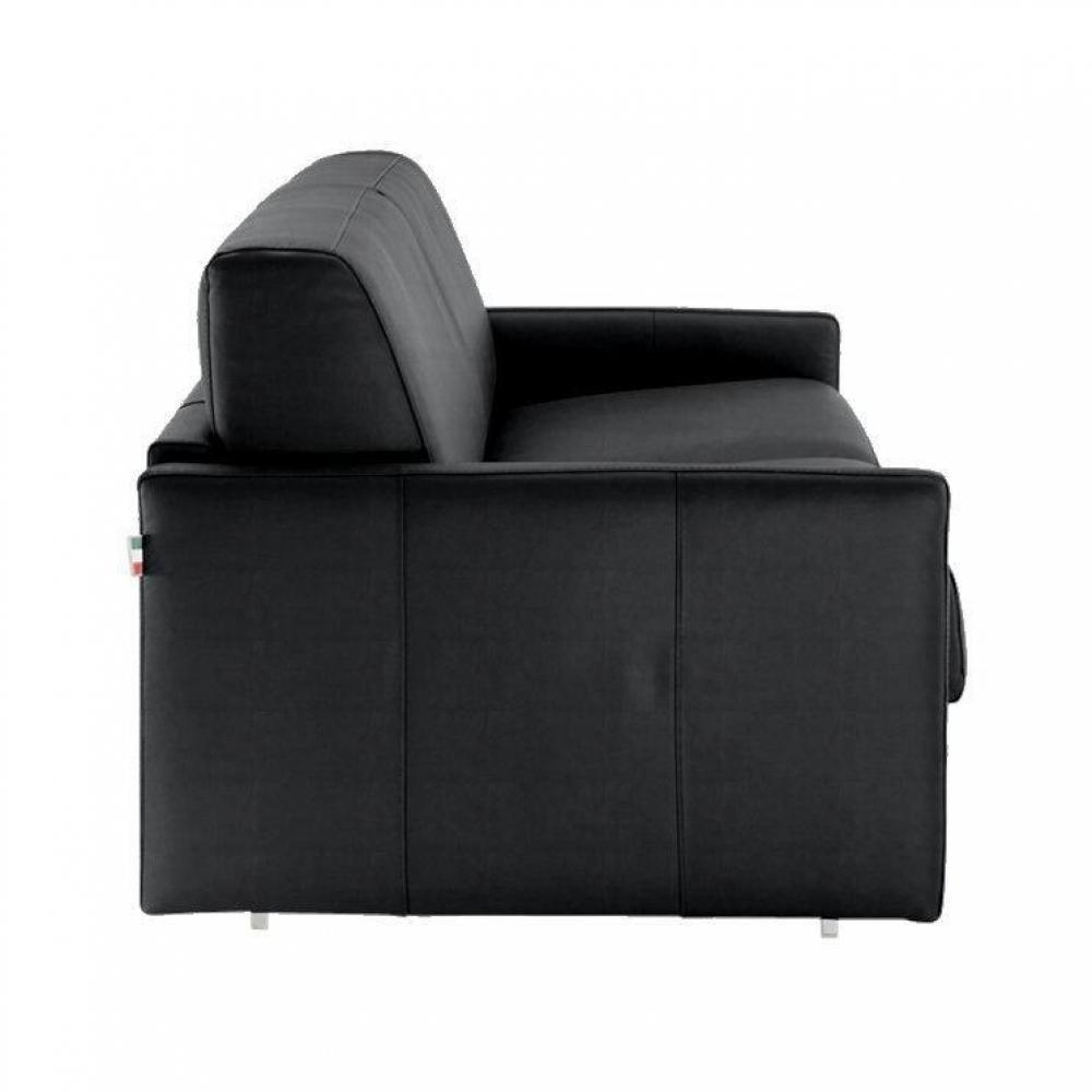 Canapé lit express SUN ELITE polyuréthane noir sommier lattes 140cm assises et matelas 16cm  mémoire de forme