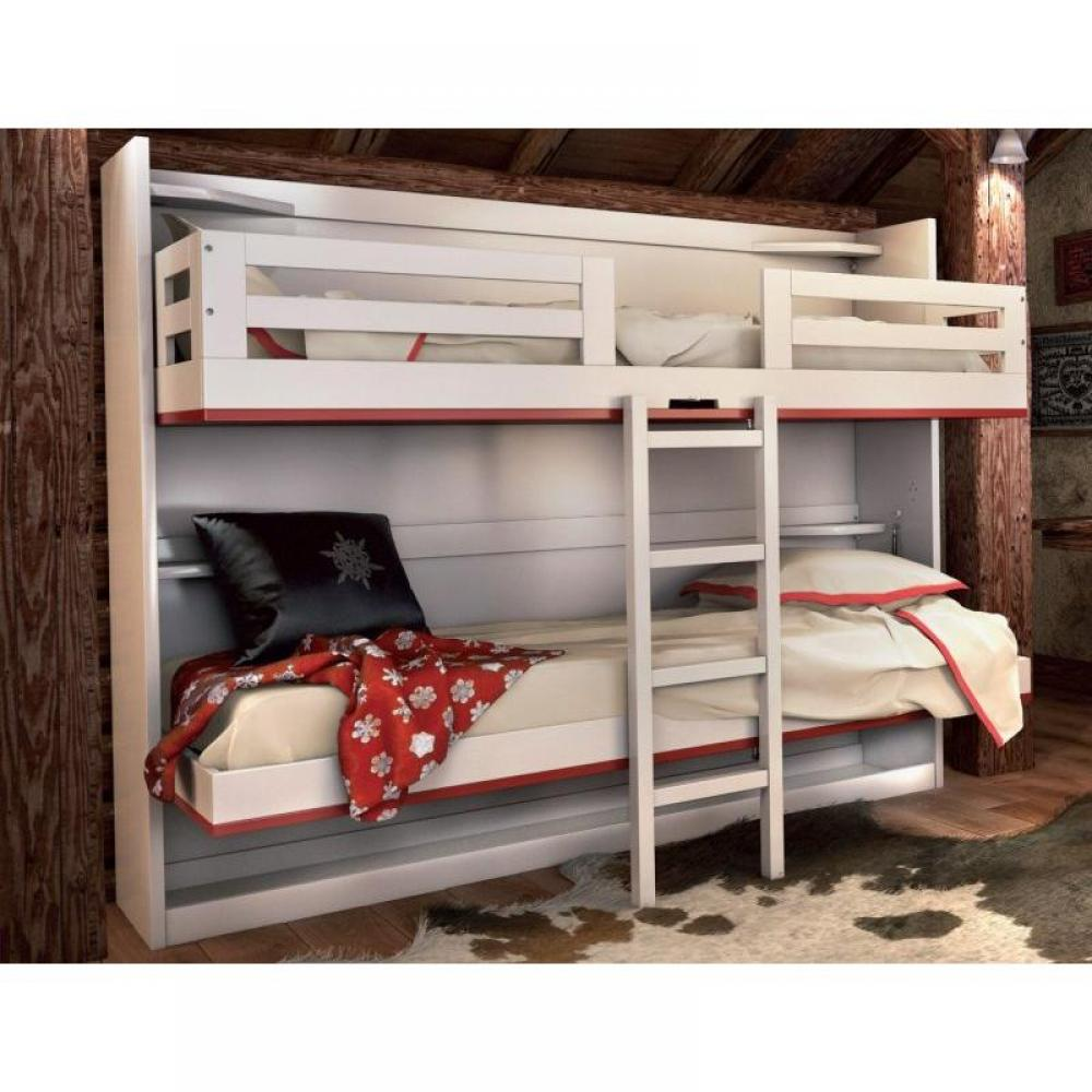 Armoire lits superpos s armoires lits escamotables armoire lits superpos s - Lits superposes 3 couchages ...