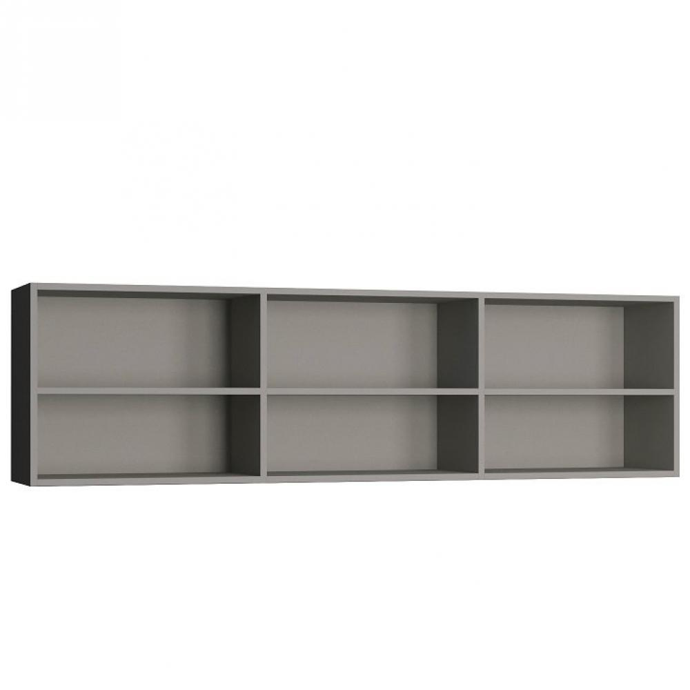 Surmeuble lit escamotable VERTIGO 140 x 200 cm gris mat