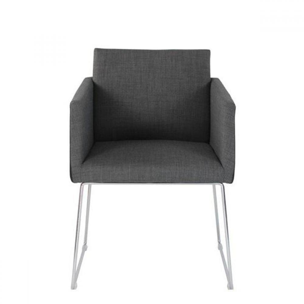 fauteuils et poufs canap s et convertibles sweep fauteuil salon tweed noir design inside75. Black Bedroom Furniture Sets. Home Design Ideas