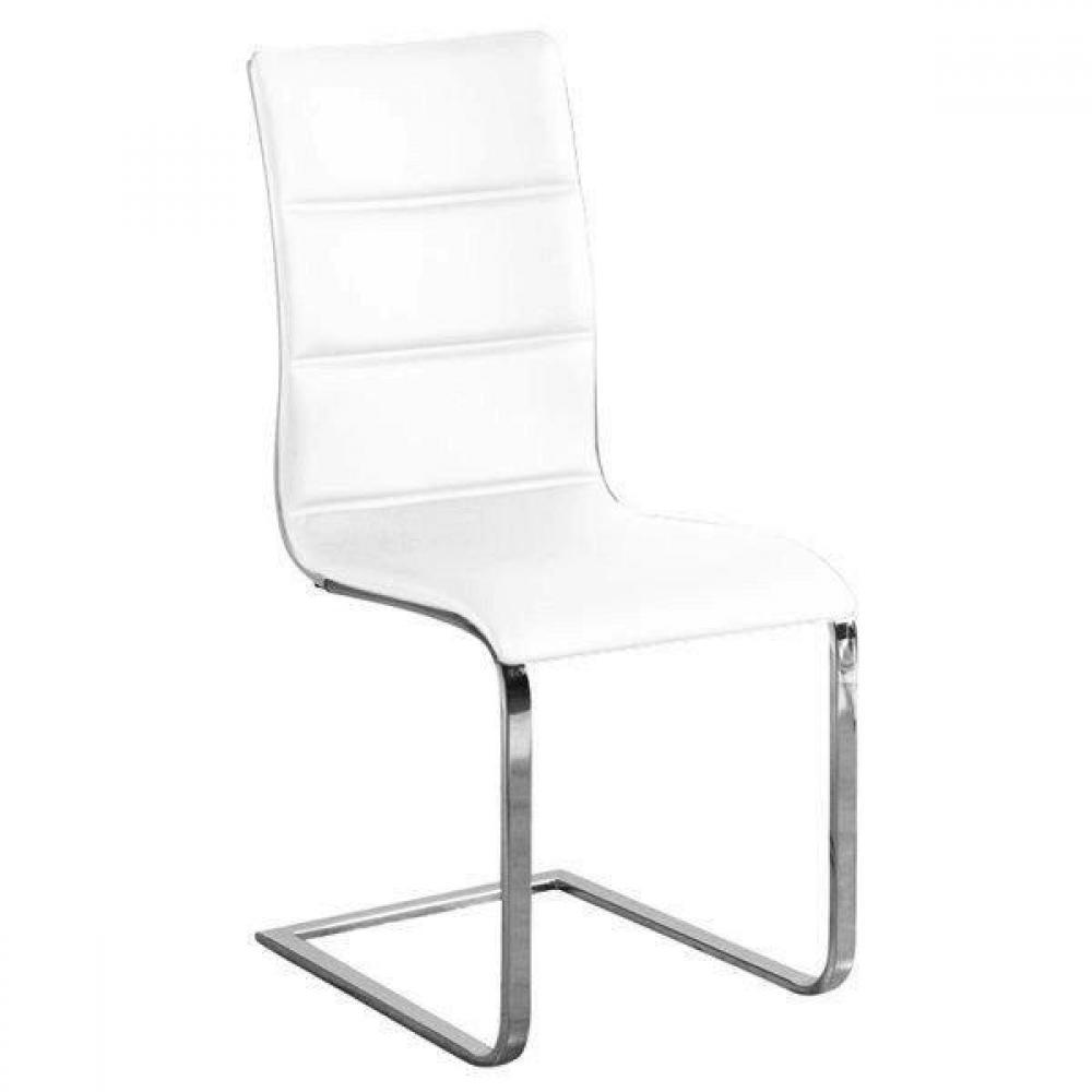 Chaise design ergonomique et stylis e au meilleur prix for Chaise cuir blanc