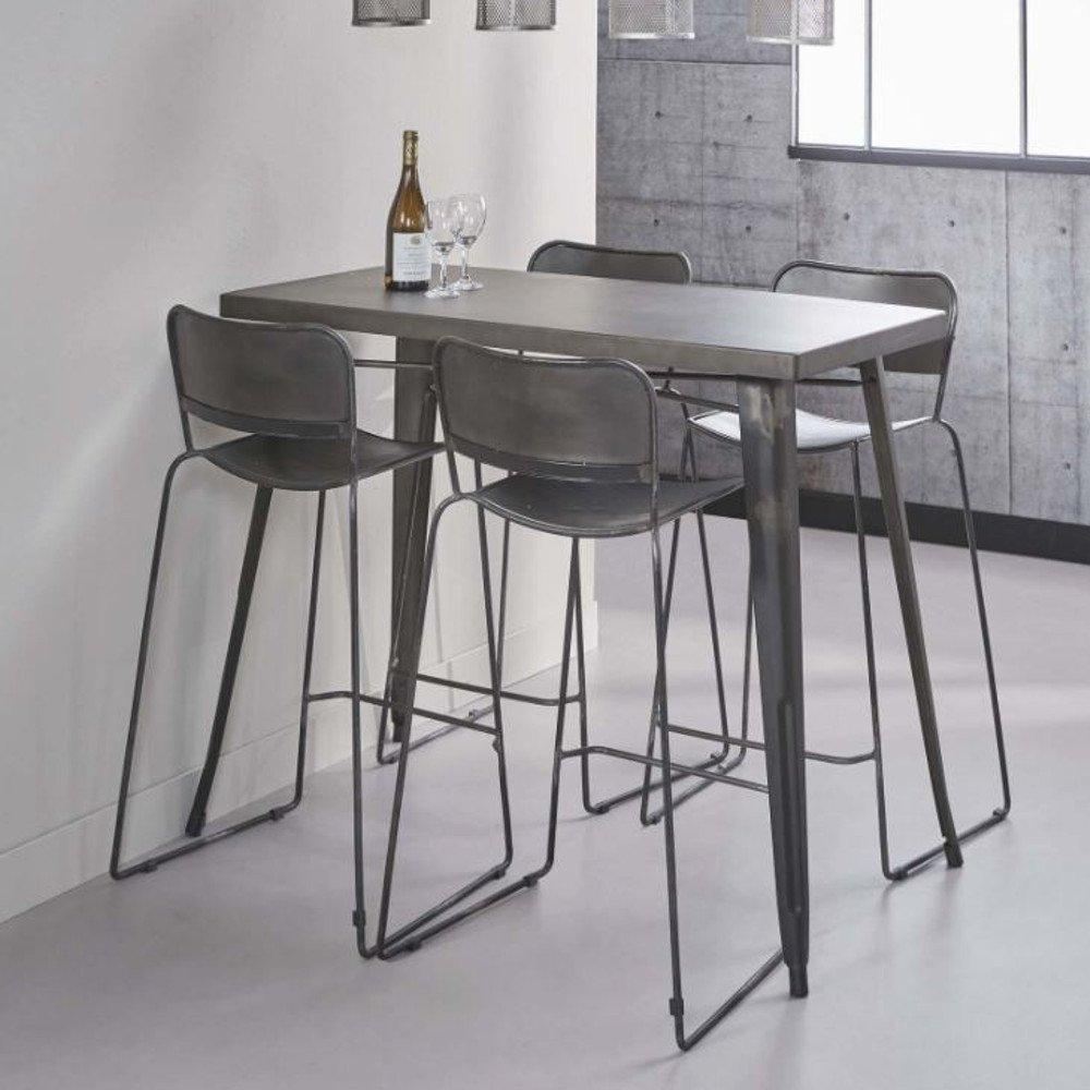 bars tables et chaises table de bar 120 60 cm industry style industriel en acier inside75. Black Bedroom Furniture Sets. Home Design Ideas