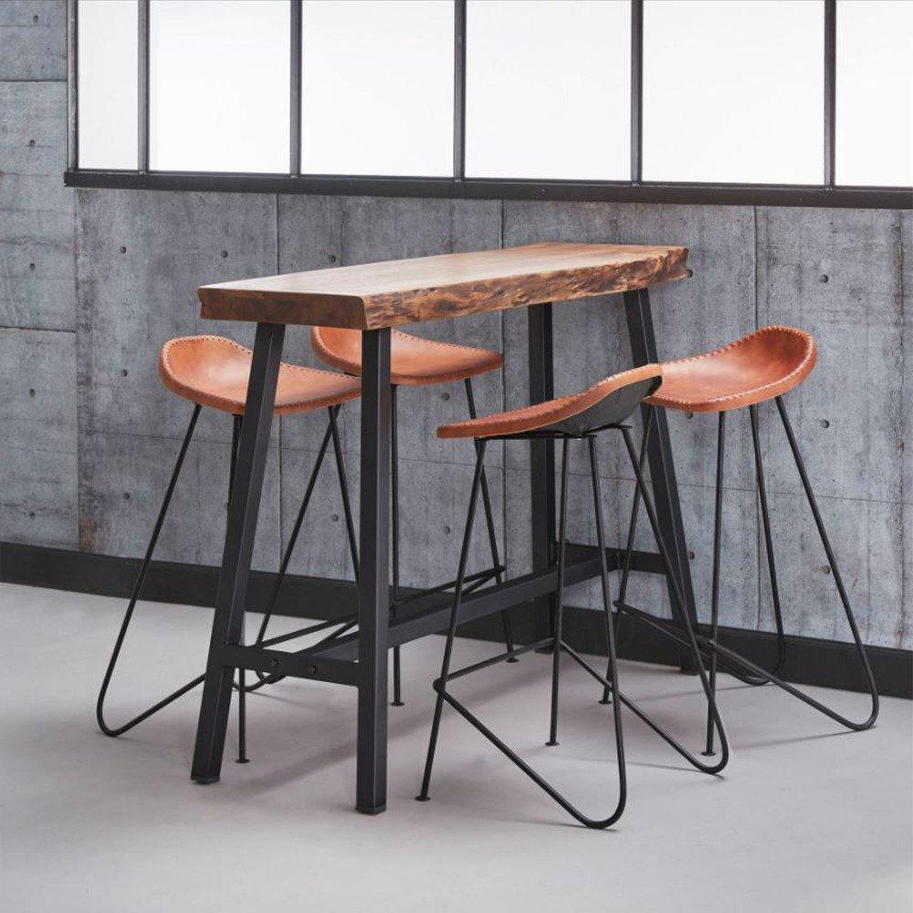 bars tables et chaises table de bar 125 46 cm split. Black Bedroom Furniture Sets. Home Design Ideas