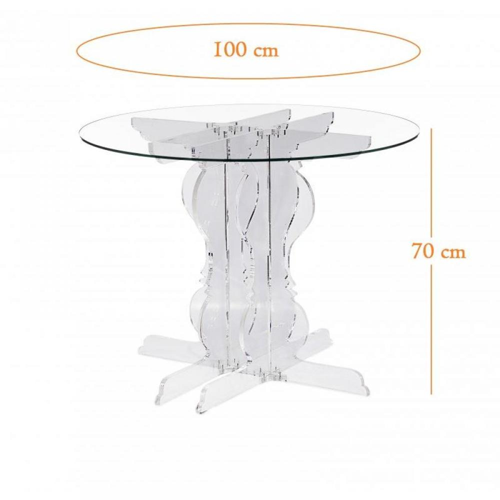 table de repas design au meilleur prix baroque table ronde plexi design acrila diam tre 100 cm. Black Bedroom Furniture Sets. Home Design Ideas