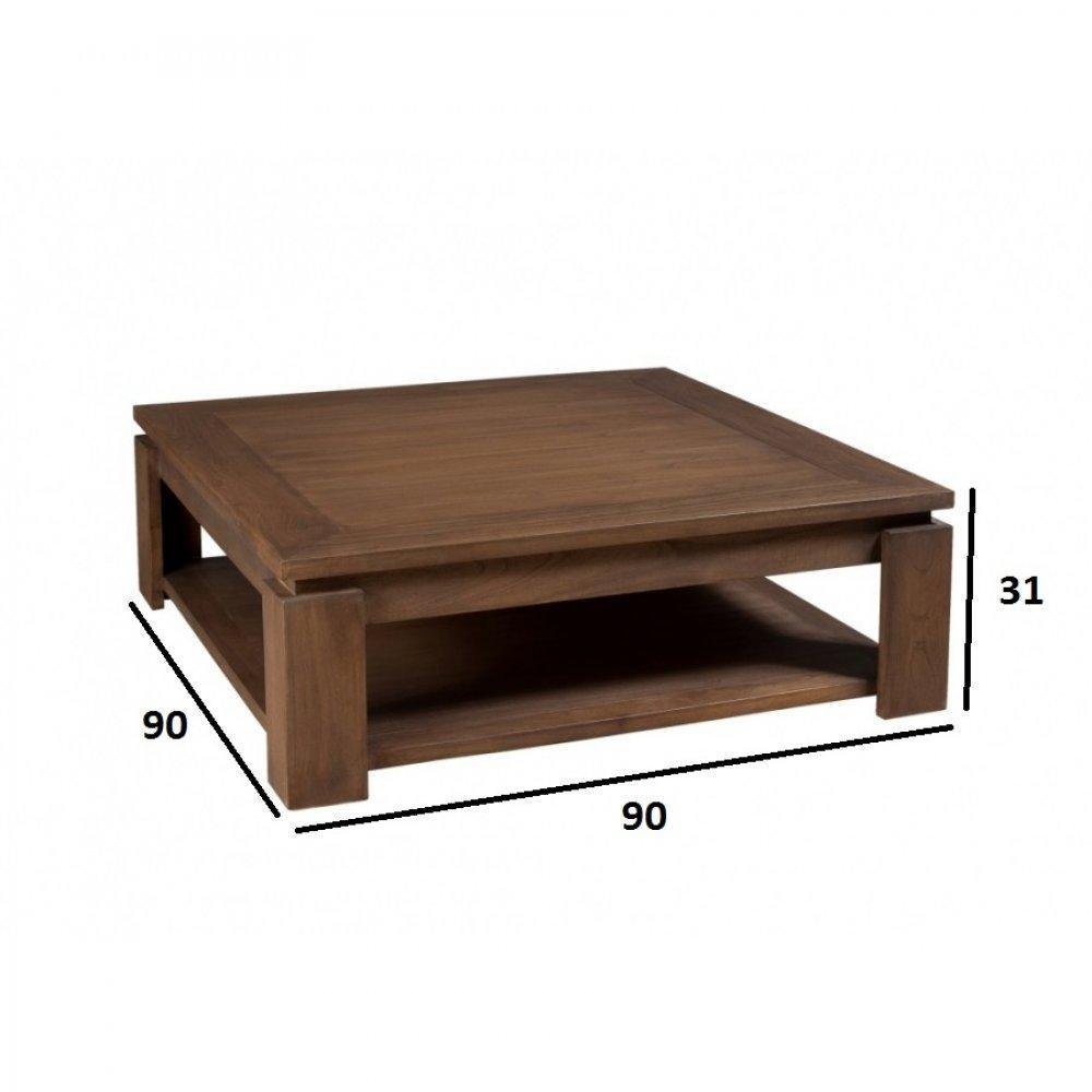 X 90 Colonial Carrée En Laura Style Mindi Cm Table Basse nX0w8kNOP