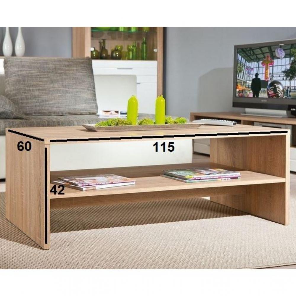 Table basse carr e ronde ou rectangulaire au meilleur prix table basse abso - Table basse bois chene ...