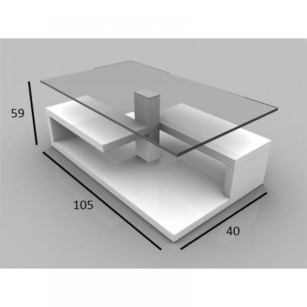 table basse carr e ronde ou rectangulaire au meilleur prix table basse adeline laqu e blanc. Black Bedroom Furniture Sets. Home Design Ideas