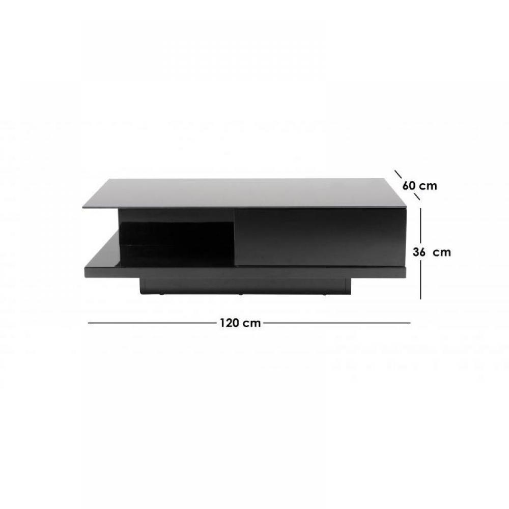 Table basse carr e ronde ou rectangulaire au meilleur prix allegra table ba - Table basse rectangulaire noire ...