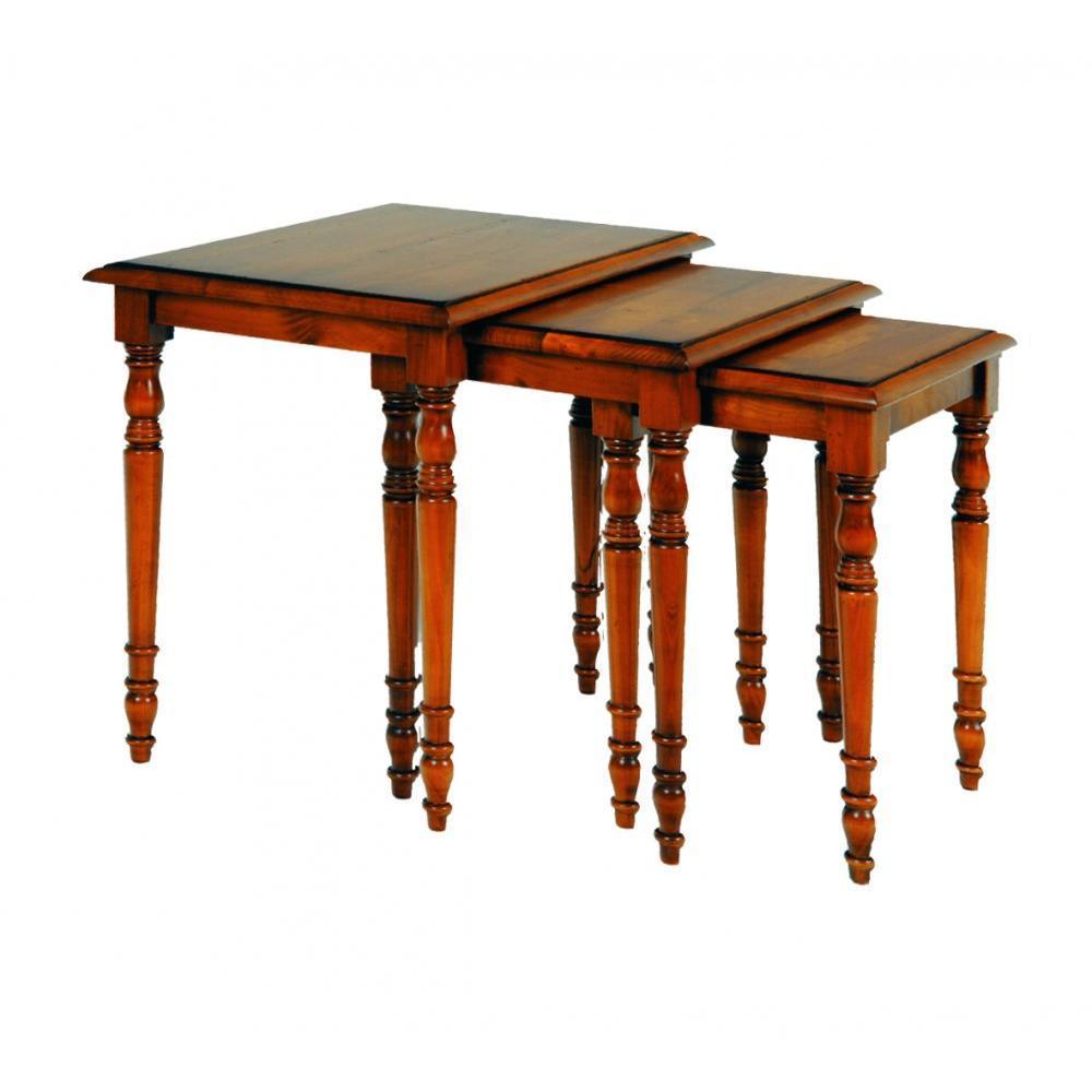 Table basse carr e ronde ou rectangulaire au meilleur prix table basse antoinette 2 tiroirs en - Table basse louis philippe ...