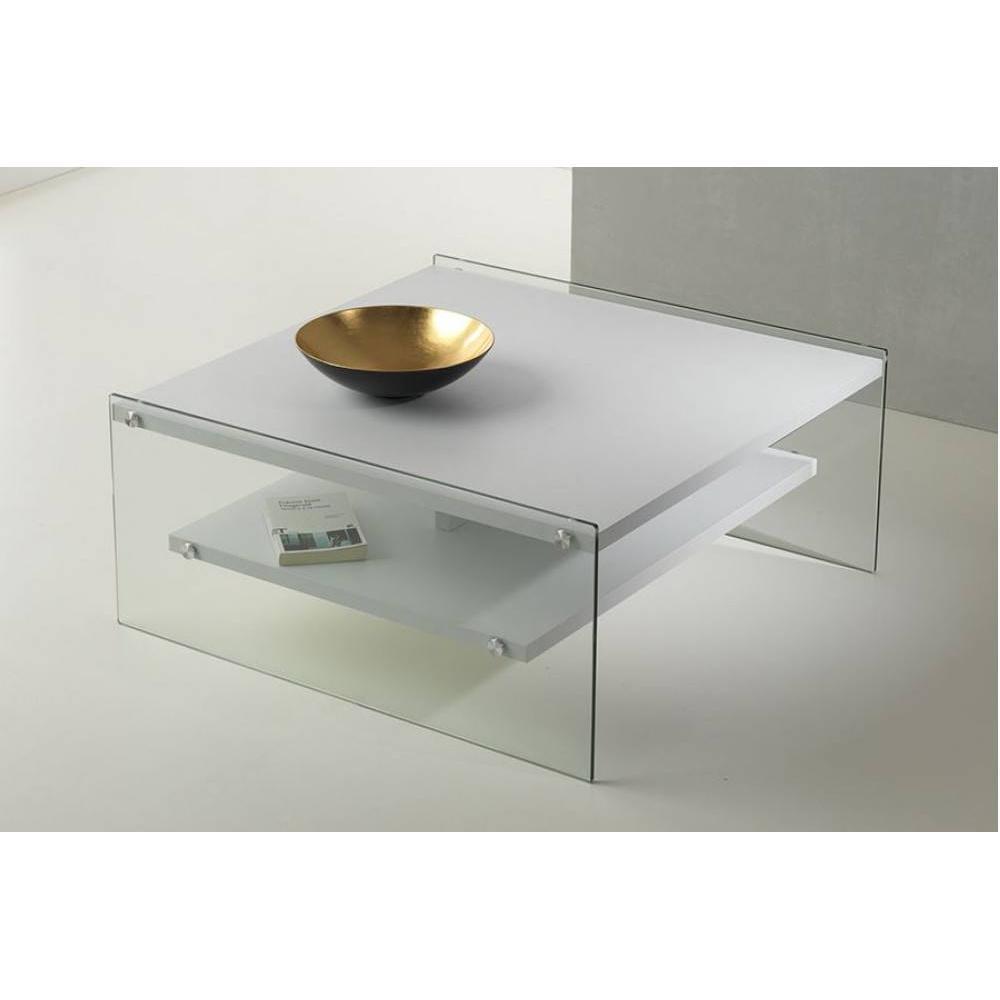 table basse carr e ronde ou rectangulaire au meilleur prix table basse bella 2 plateaux blanc. Black Bedroom Furniture Sets. Home Design Ideas