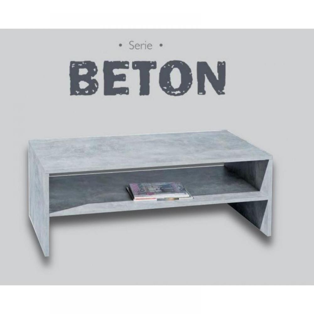Table basse aspect béton