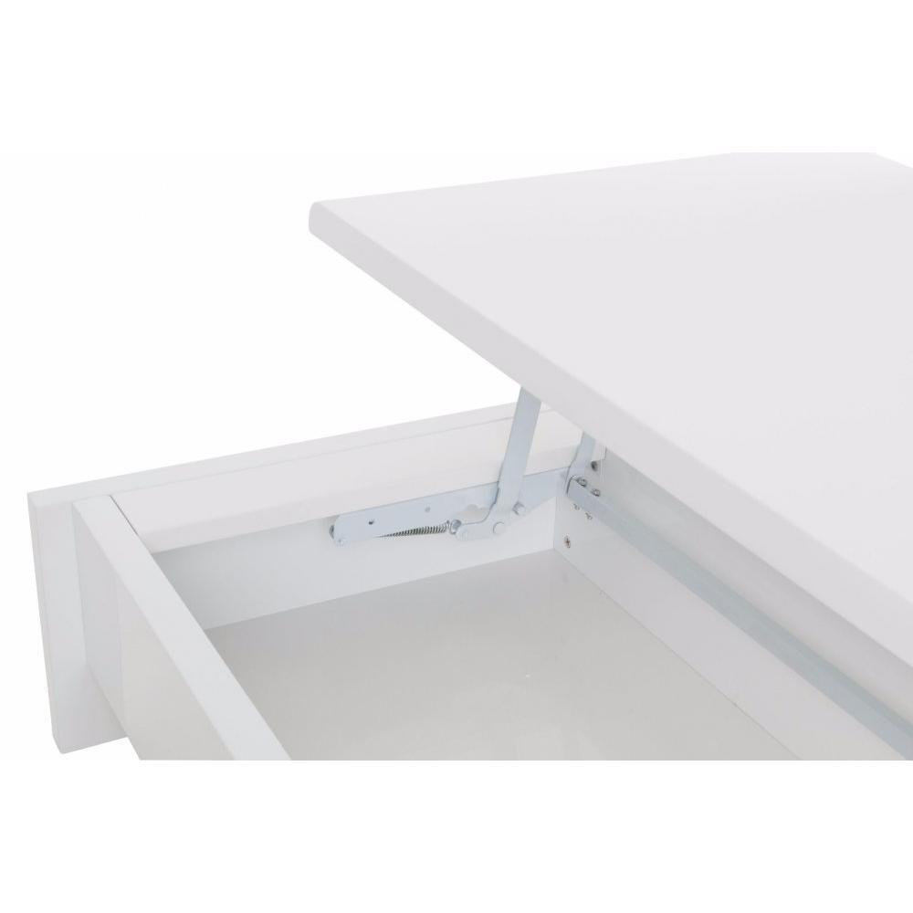 Chaises meubles et rangements table basse carr coffre levi blanc inside75 - Table basse coffre blanc ...