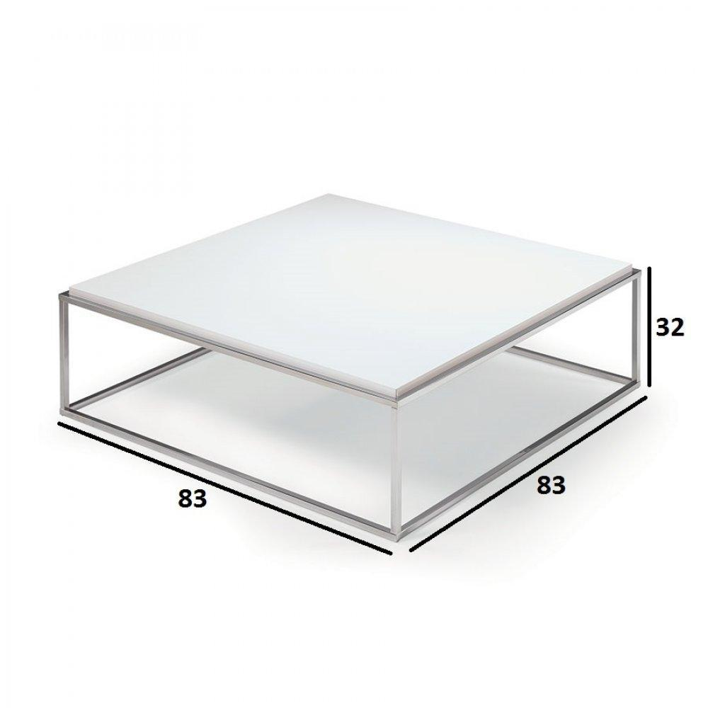 table basse carr e ronde ou rectangulaire au meilleur prix table basse carr e mimi xl blanc. Black Bedroom Furniture Sets. Home Design Ideas
