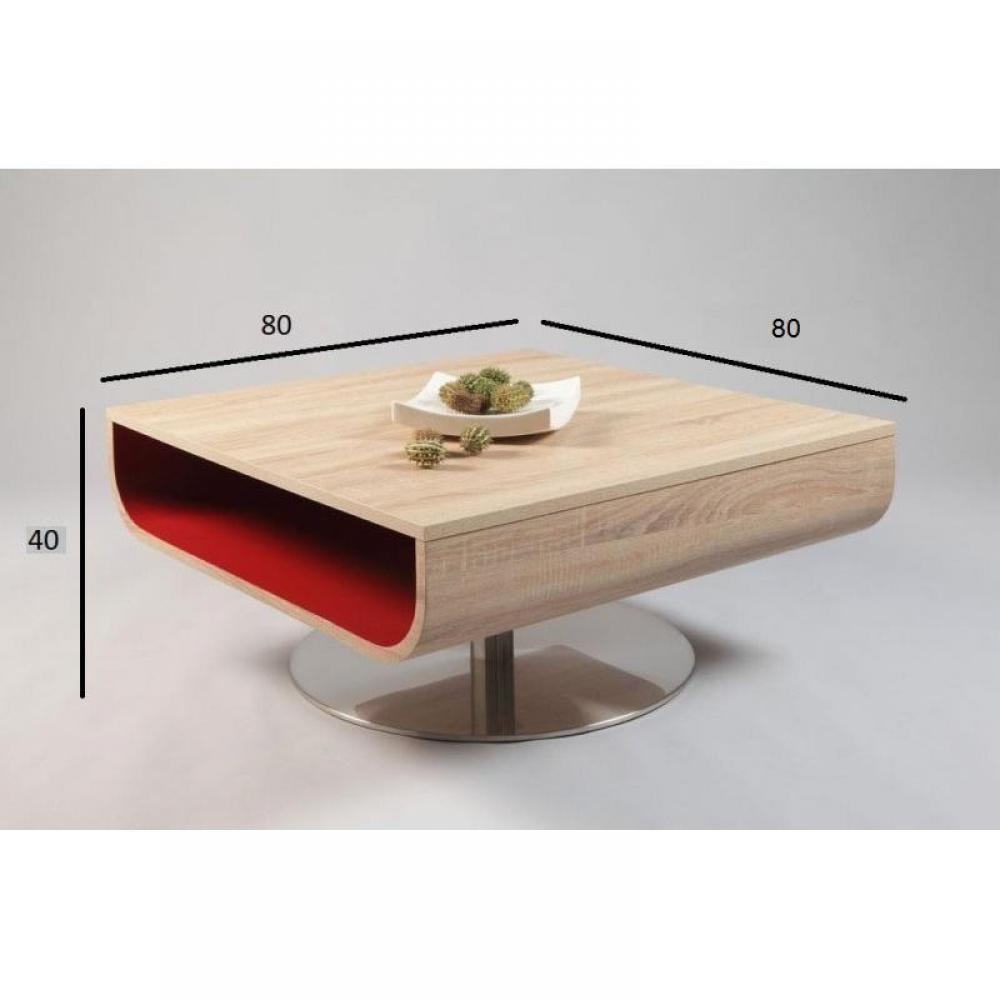 Table basse carr e ronde ou rectangulaire au meilleur - Table basse rouge laque ...