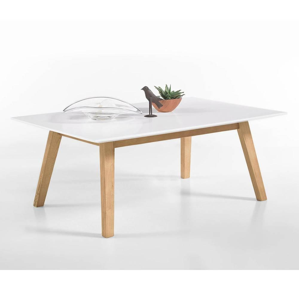 table basse clement style scandinave laque blanc mat | ebay