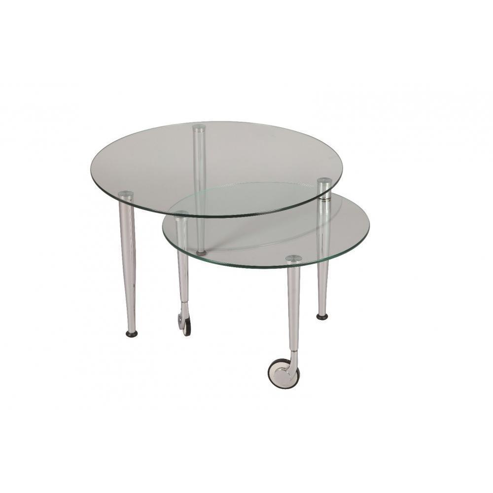table gigogne ultra pratique et design au meilleur prix table basse eight en verre transparent. Black Bedroom Furniture Sets. Home Design Ideas