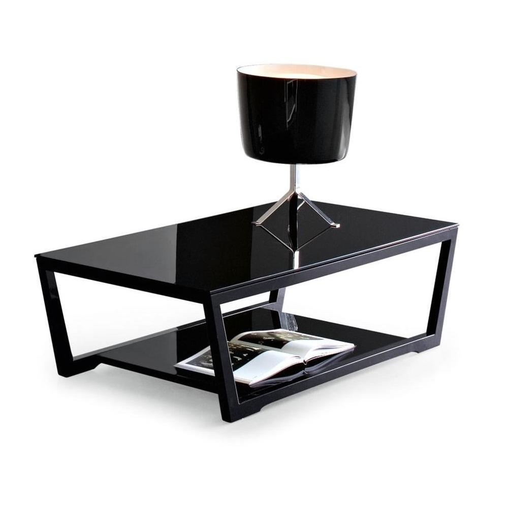 table basse noyer et verre noir. Black Bedroom Furniture Sets. Home Design Ideas