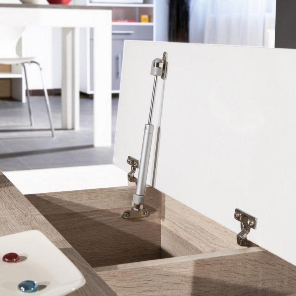 table basse carr e ronde ou rectangulaire au meilleur prix table basse avec mini bar woody. Black Bedroom Furniture Sets. Home Design Ideas