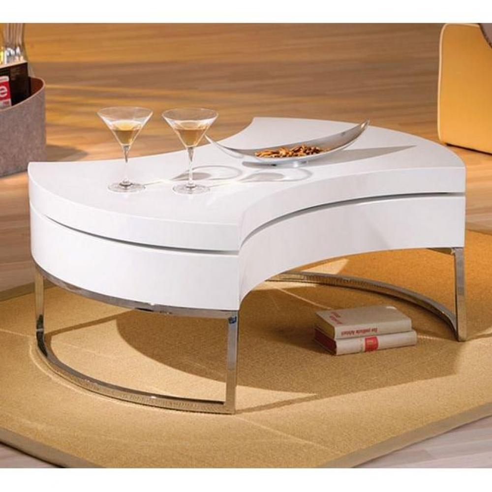 tables modulables tables et chaises table basse design modulable turnaround blanche et acier. Black Bedroom Furniture Sets. Home Design Ideas