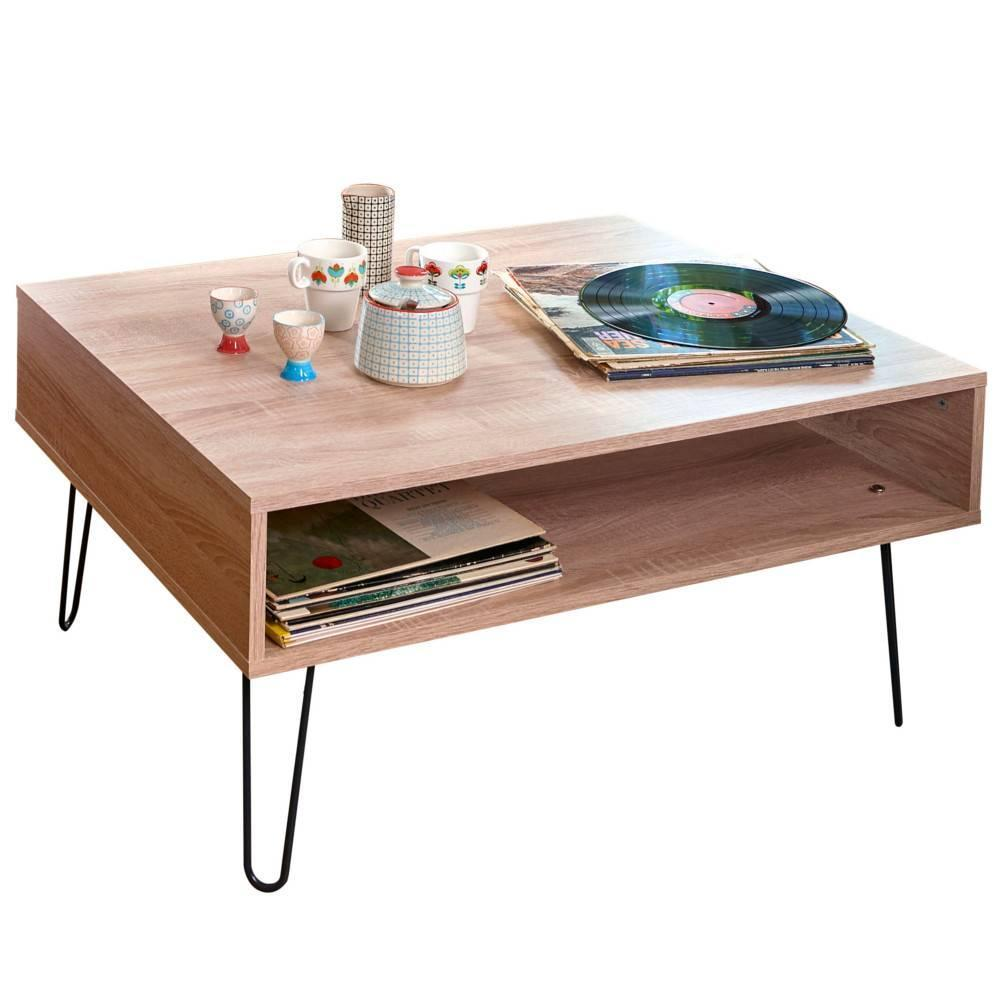 Table basse carr e ronde ou rectangulaire au meilleur for Table carree style scandinave