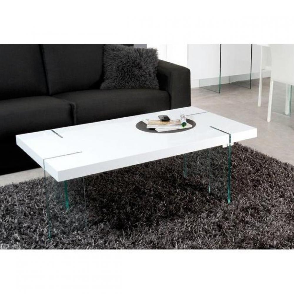 Table Basse Carree Ronde Ou Rectangulaire Au Meilleur Prix Table Basse Design Scoop Blanche Pieds En Verre Inside75