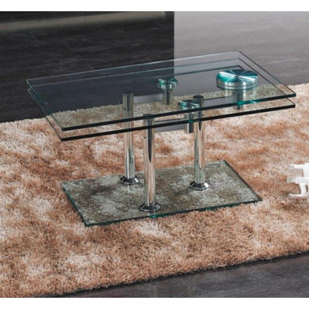 table basse carr e ronde ou rectangulaire au meilleur prix table basse pita plateaux en verre. Black Bedroom Furniture Sets. Home Design Ideas