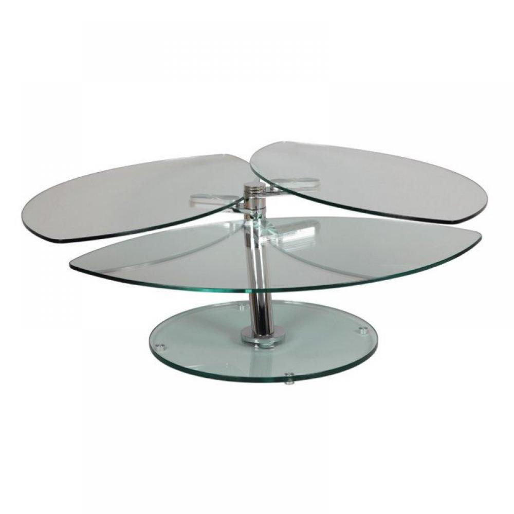 Table basse carr e ronde ou rectangulaire au meilleur prix table plateaux - Table basse plateaux pivotants ...