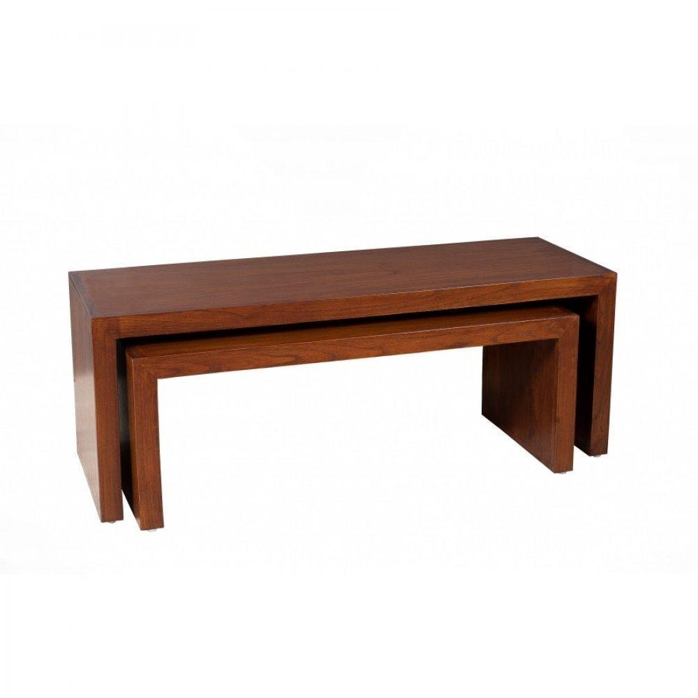 Table basse carr e ronde ou rectangulaire au meilleur for Table basse gigogne ronde