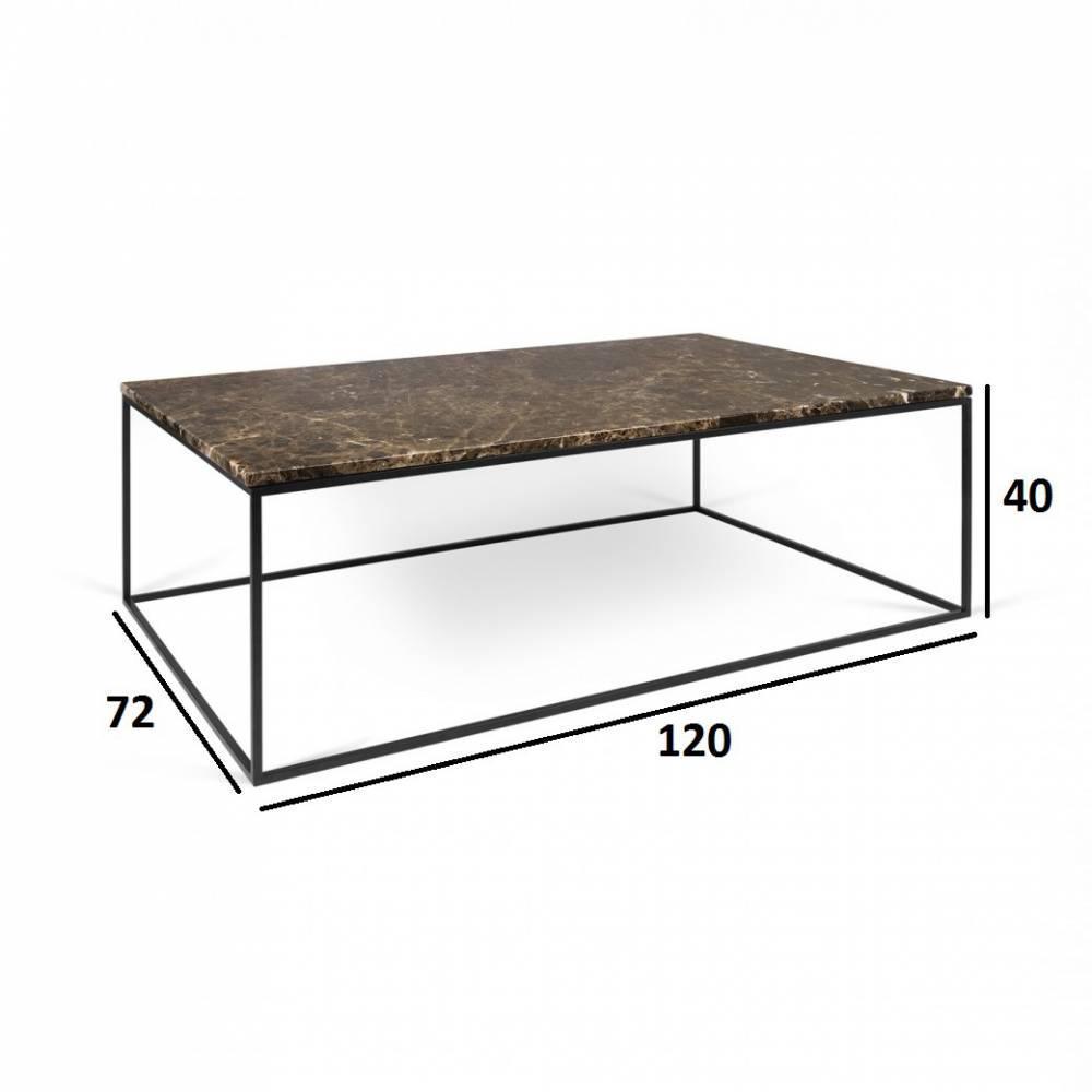 Table basse carr e ronde ou rectangulaire au meilleur for Table basse marron