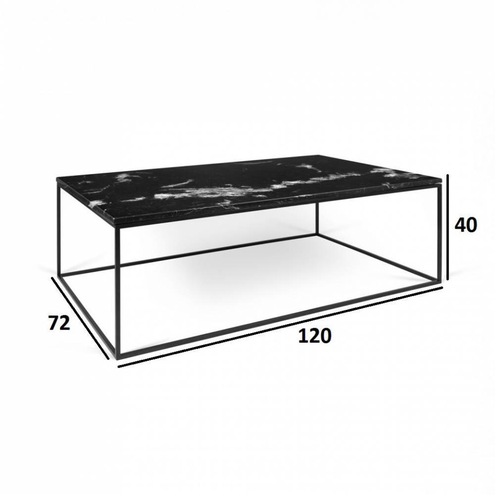 Table basse carr e ronde ou rectangulaire au meilleur prix tema home table basse rectangulaire - Table basse rectangulaire noire ...
