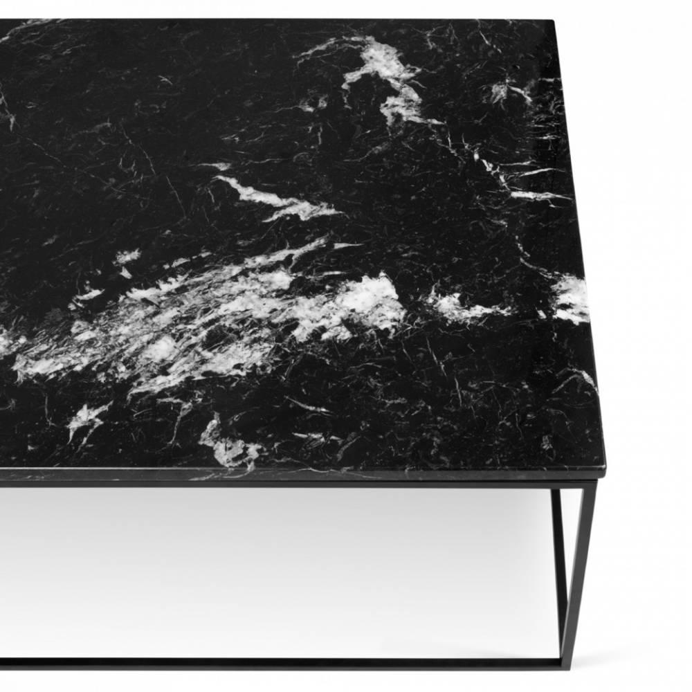 Table basse carr e ronde ou rectangulaire au meilleur - Table en marbre noir ...