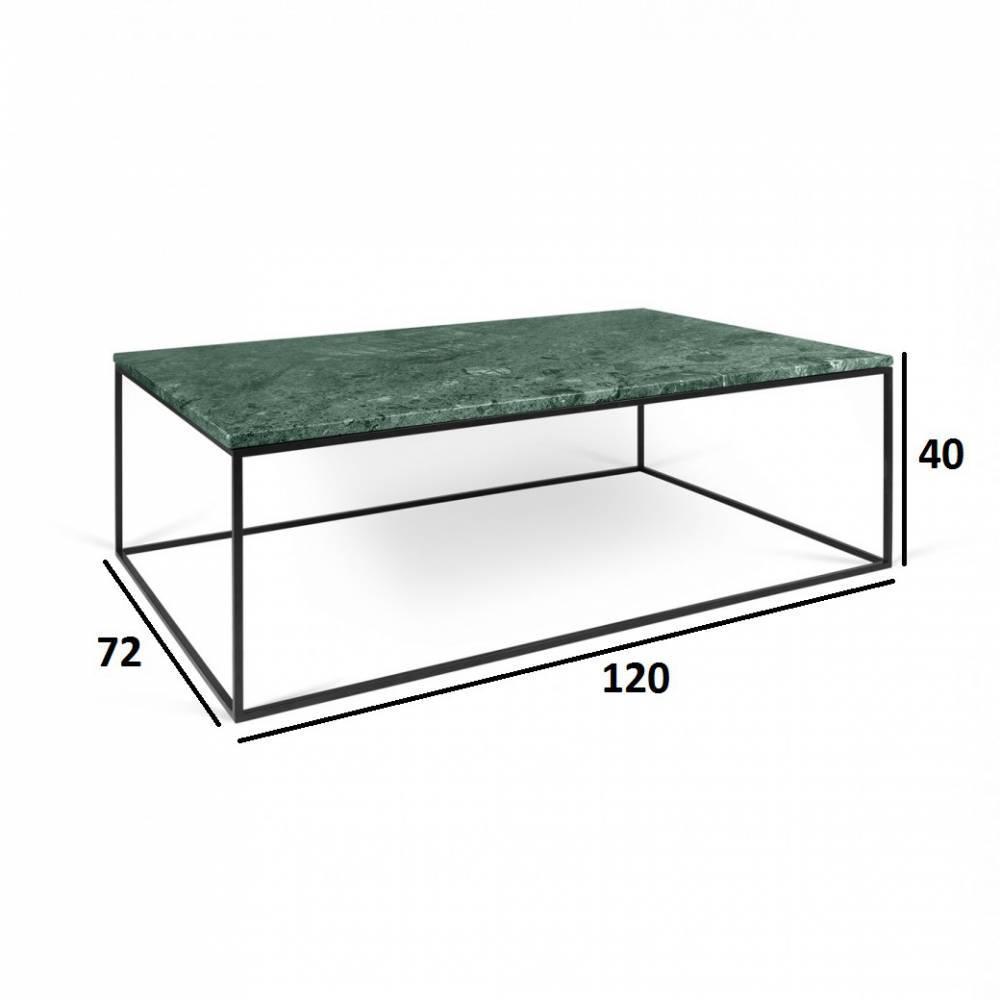 Table Basse Marbre Vert.Table Basse Rectangulaire Gleam 120 Plateau En Marbre Vert Structure Noire