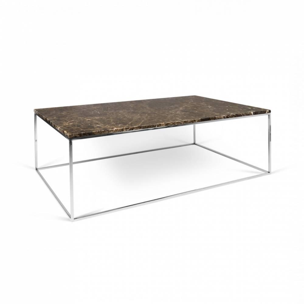canap convertible au meilleur prix table basse rectangulaire gleam 75 plateau en marbre marron. Black Bedroom Furniture Sets. Home Design Ideas