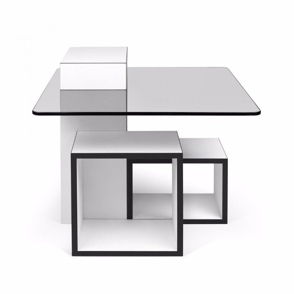 table basse carr e ronde ou rectangulaire au meilleur prix table basse gutta design 60 60 cm. Black Bedroom Furniture Sets. Home Design Ideas
