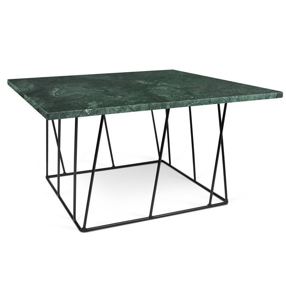 Table basse carrée HELIX 75 en marbre vert
