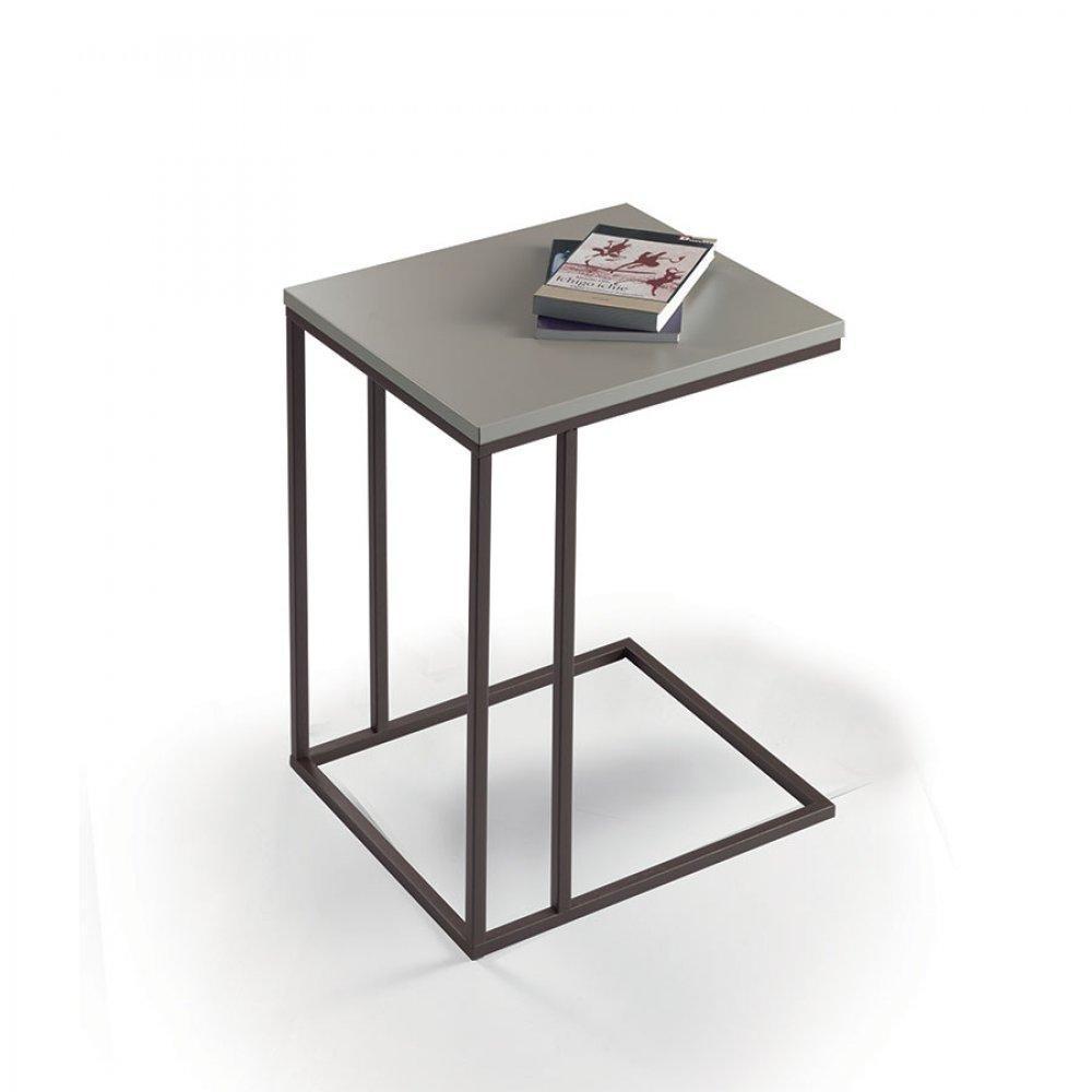 bouts de canapes meubles et rangements lamina bout de canap chocolat et taupe inside75. Black Bedroom Furniture Sets. Home Design Ideas