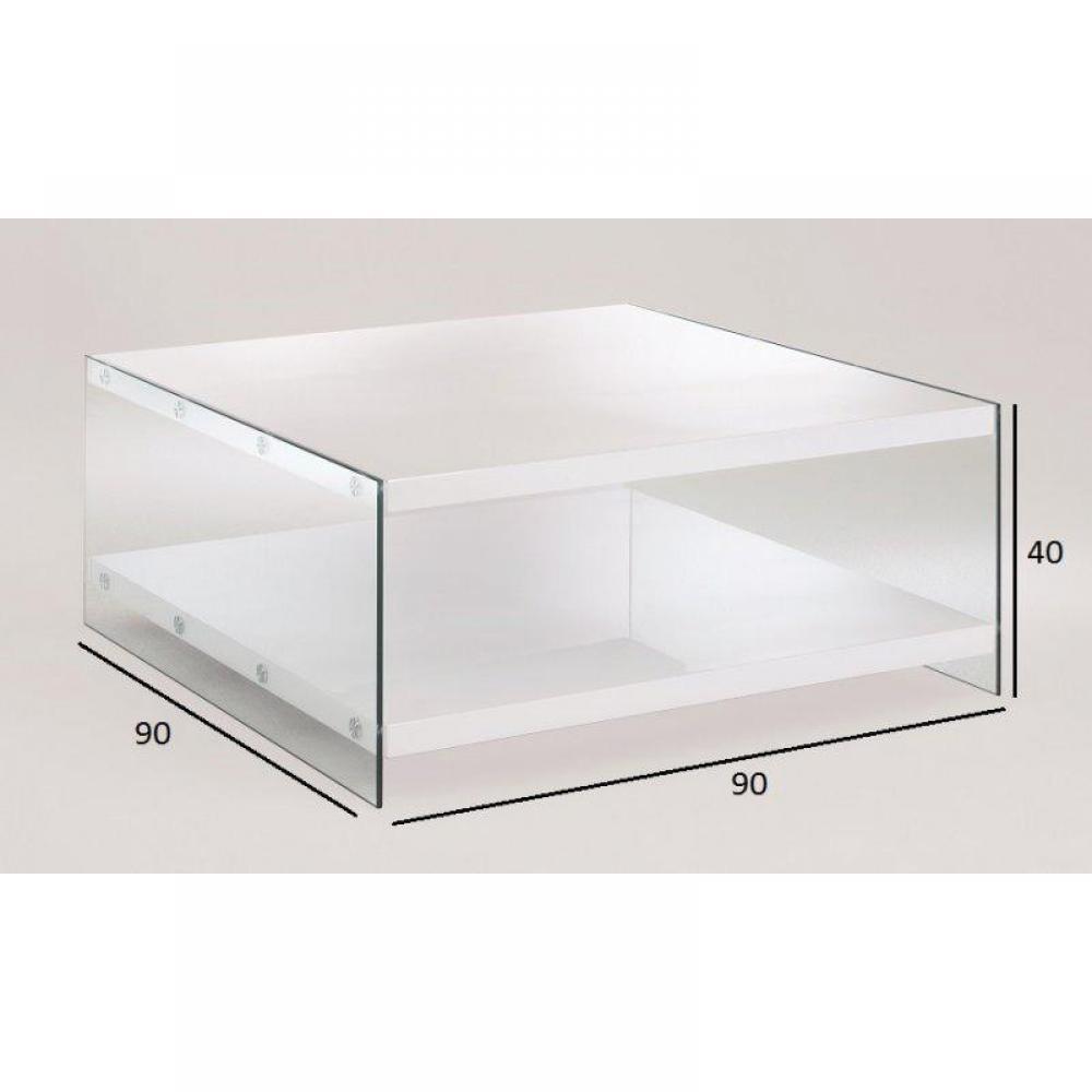 Chaises meubles et rangements table basse jennifer en - Table basse rangements ...