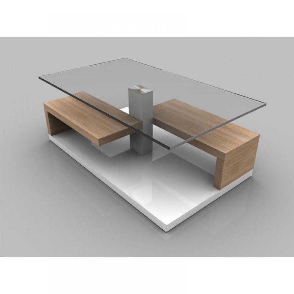table basse carr e ronde ou rectangulaire au meilleur prix table basse maeva ch ne blanc de. Black Bedroom Furniture Sets. Home Design Ideas