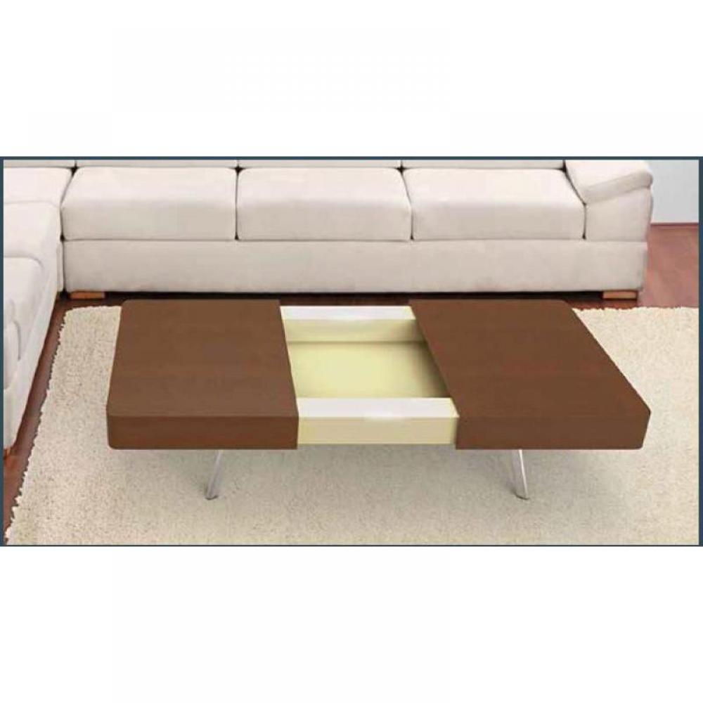 table basse carr e ronde ou rectangulaire au meilleur prix melissa table basse en noyer avec. Black Bedroom Furniture Sets. Home Design Ideas