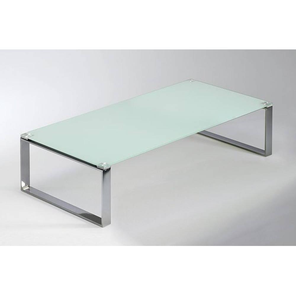 Table Basse Blanche Verre.Table Basse Miami En Verre Blanc